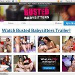 Busted Babysitters Register Form