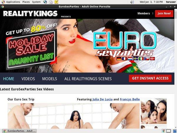 Euro Sex Parties $1 Trial